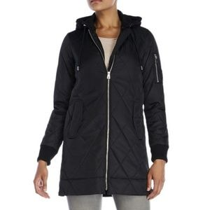 Vince Camuto Hooded Quilted Bomber Jacket